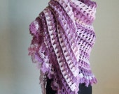BIG BIG SALE-Express Shipping-Purple Degrade Shawl-For your cool summer evenings-to be real chic