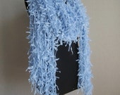 BIG BIG SALE-Express Shipping-Blue Scarf-For your cool summer evenings-to be real chic
