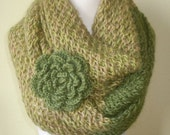 Green Scarf-infinity scarf- NECKWARMER,SHAWL -it's make you feel good-it's make you feel special-very cool gift for valentine's day