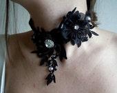 Black Bridal Wrist Necklace,Gothic Collar, Black Lace Necklace , Bride,Bridal Lace,Wedding Necklace,Romantic,Fashion,Wedding Gift