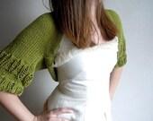 Green Shrug-2012 Spring Summer Trends Shrug-Woman-Summer st,patrick,s day- Fashion Shrug-Shrugs-Bolero-Wedding-Stole-Shawl