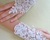 Ivory Bridal Wrist Cuffs,Gothic Gloves, Lace Gloves , Bride,Bridal Lace,Wedding Gloves,Romantic,Fashion, Wedding Cuffs
