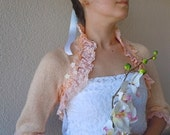 Salmon Elegant Shrug in 2012 Trends-Hight Wedding Fashion-For The Bride-For Summer-Summer Color-Orchid