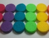 Tropical Rainbow -- 90 1-inch Felt Die Cut Circle Shapes -- Appliques Embellishments for Flowers Crafts Hair Bows Clippies -- QUICK TO SHIP