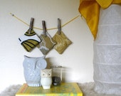 Green and Gold - Lavender and Mint Dryer Sachets - Set of 3