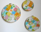 Retro Floral Patchwork Hoop Set