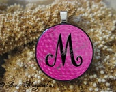Personalized Golf Pendant, Choose Your  Silver Pendant Style, Love to Golf Initial Pendant