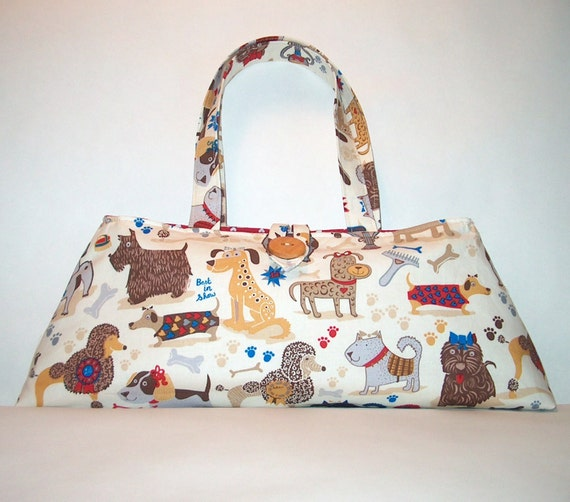 Purse made from Dog Show fabric