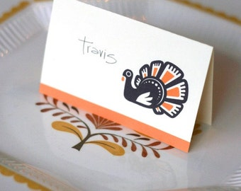 DIY thanksgiving place cards. printable PDF.