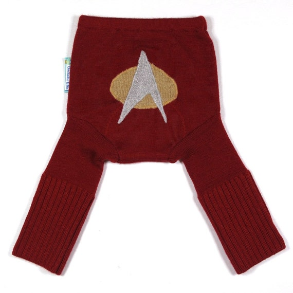 Wool Longies Diaper Cover - BOLDLY GO - Small 0-9m