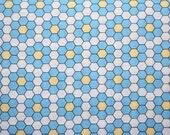 Japanese, Grandmothers Flower Garden by Rosalie Quinlan, Honeycomb in Blue (2604) - 1/2 Yard