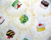 RJR Fabrics, Tea for Two Cupcakes in Yellow - 1 Yard Clearance