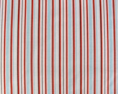 West Hill Stripe - Blue, Orange and White by Heather Ross- 1 Yard Clearance