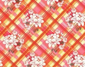 Clearance-Sandi Henderson for Michael Miller, Meadowsweet, Peony Plaid in Blush ( SH4232) - 1 Yard