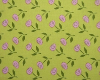 Jersey Girls for Lyndhurst Studios, A La Mode in Green and Pink - 1 Yard Clearance