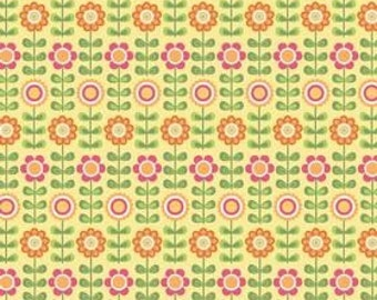 Riley Blake, My Minds Eye, Summer Song, Summer Flowers in Yellow C7051 - 1 Yard - Clearance