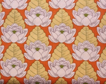 Amy Butler-Lotus-Lotus Pond in Tangerine AB21- 1 Yard