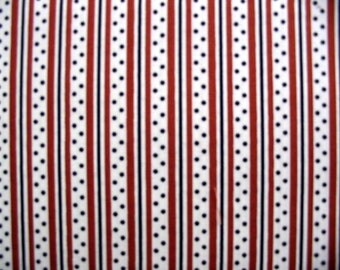Denyse Schmidt-Katie Jump Rope-Stripe and Dot in Brown - 1 Yard Clearance