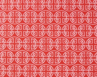 Timeless Treasures, Asia Bamboo, Medallion in Terra-cotta - 1 Yard Clearance