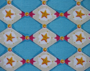 Felicity Miller, Harlequin Star in Blue - 1 Yard Clearance