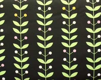 Erinn Kennedy for Andover, Painted Posies on Black - 1 Yard Clearance