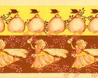 Tina Givens, Fairy Tip Toes, Ribbon Fare in Yellow and Pink - 1 Yard