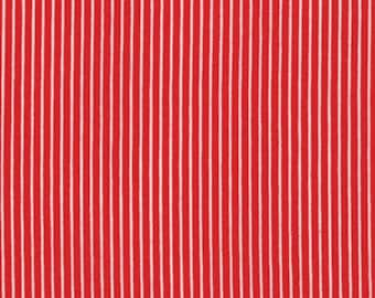 Moda, American Jane for Moda, Le Petit Poulet, Pin Stripe in Red 21502-11-1 Yard (Last One) Clearance