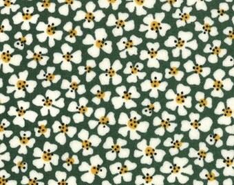 Moda, American Jane for Moda, Le Petit Poulet-Le Petit Fleur in Green 21503-14 - 1 Yard Clearance