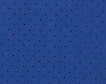 Moda, American Jane for Moda, Le Petit Poulet, Pin Dot in Blue 21098-65 - 1 Yard Clearance