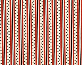 Denyse Schmidt-Katie Jump Rope-Stripe and Dot in Orange - 1 Yard Clearance