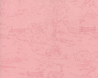 Bunny Hill Designs for Moda, Ooh La La, Countryside in Pink 2832.17 - 1 Yard Clearance