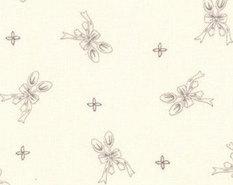 Bunny Hill Designs for Moda, Ooh La La, Silver Spoon in Cream and Grey 2834.11 - 1/2 Yard