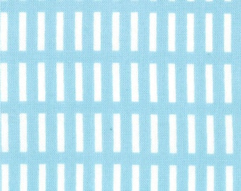 Aneela Hoey for Moda, Walk in the Woods, Dash Stripe in Blue Bell 18526.11 - 1/2 Yard