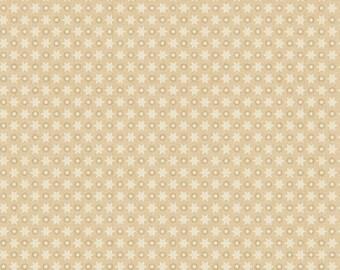 Sara Morgan for Blue Hill Fabrics, Holiday Heritage, Stars and Dots in Tan 7510.8 - 1/2 Yard