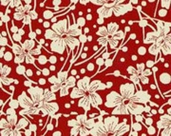 Sara Morgan for Blue Hill Fabrics, Lady Grace, Floral in Red 7388.2 - 1/2 Yard