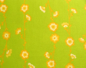 Valorie Wells, Sole,  Flower Vine Stripe in Lime - 1 Yard Clearance