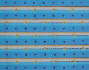 Felicity, Stripe and Dot Blue - 1 Yard Clearance