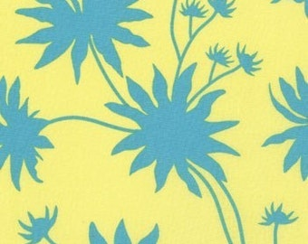 Joel Dewberry, Chestnut Hill, Blackeyed Susan in Turquoise - 1 Yard - Clearance