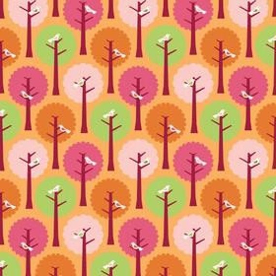 Riley Blake-SUMMER SONG-Orange Trees C7052 by My Mind's Eye - 26 Inches (End of Bolt)