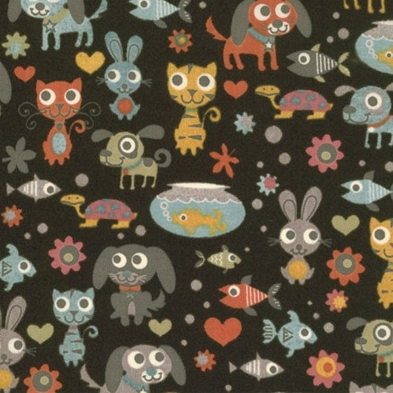 Basicgrey for Moda, Max and Whiskers, Bubbles in Black  (30250-17) - 1/2 Yard