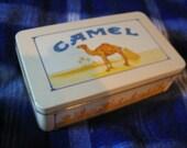 Vintage Rectangle Camel Cigarettes Tin