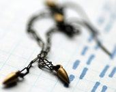 Oxidized Sterling Silver Earrings Chain and Spikes - Pigeon Toe Dangles