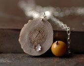 Sterling Silver, Antler and Gemstone Necklace - Liripipe Lariat