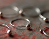 Sterling Silver and Brass Ball Stacking Ring  - Curio Ring