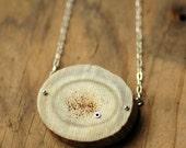 Antler Pendant Necklace, Sterling Silver - Cicatrix Necklace (Large)