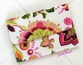 Mod Calliope Paisley... Kiwi Polka Dots... Mini Wallet /Business Card Case
