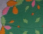 Vintage Figural Hankerchief Autumn Leaves on Green