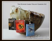 THE HUNGER GAMES Book Earrings from Durable Clay
