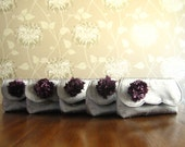 Set of Five Silk Clutches - Wedding Purses - Bridesmaid Gift Ideas - Custom Clutch (Mix and Match Fold Over Clutches)