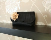 Reserved listing for Lauryn... photo lined envelope clutch
